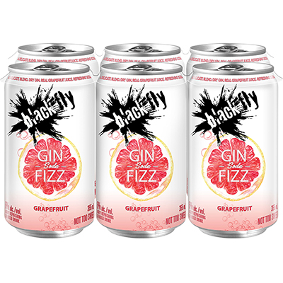BLACK FLY GIN FIZZ 6can