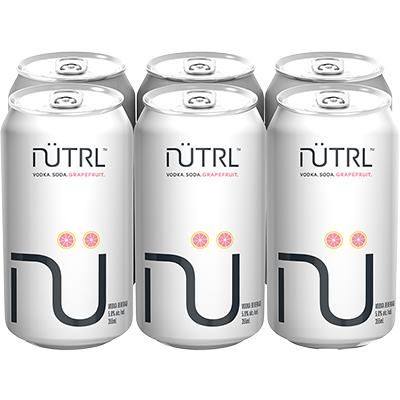 NUTRL GRAPEFRUIT 6PK