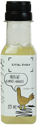 ORGEAT ALMOND-AMANDE SOCIAL SYRUP 125ML