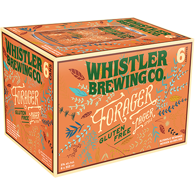 WHISTLER FORAGER LAGER CANS