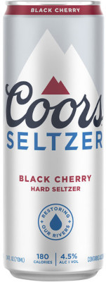 COORS SELTZER BLACK CHERRY TALL CAN