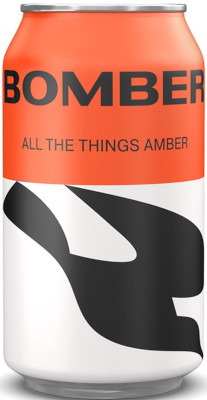 BOMBER BREW. ALL THE THINGS AMBER LAGER