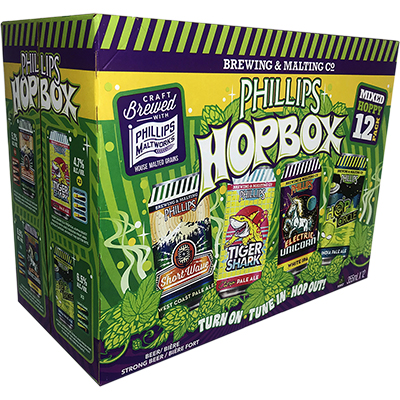 PHILLIPS HOP BOX 12can