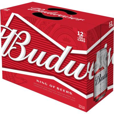 BUDWEISER 12 CAN