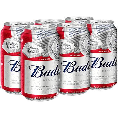 BUDWEISER 6 CAN
