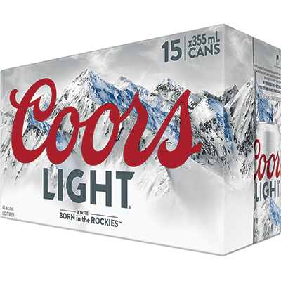 COORS LIGHT 15CAN